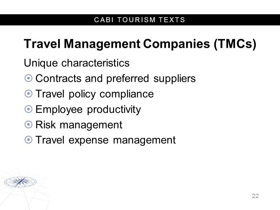 Travel Management Companies (TMCs)