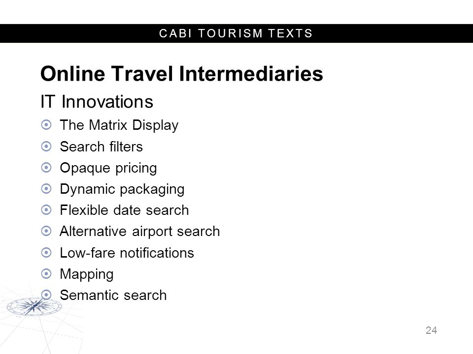 Online Travel Intermediaries