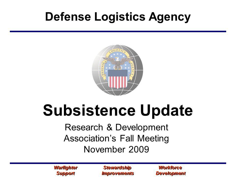 Research & Development Association's Fall Meeting November 2009