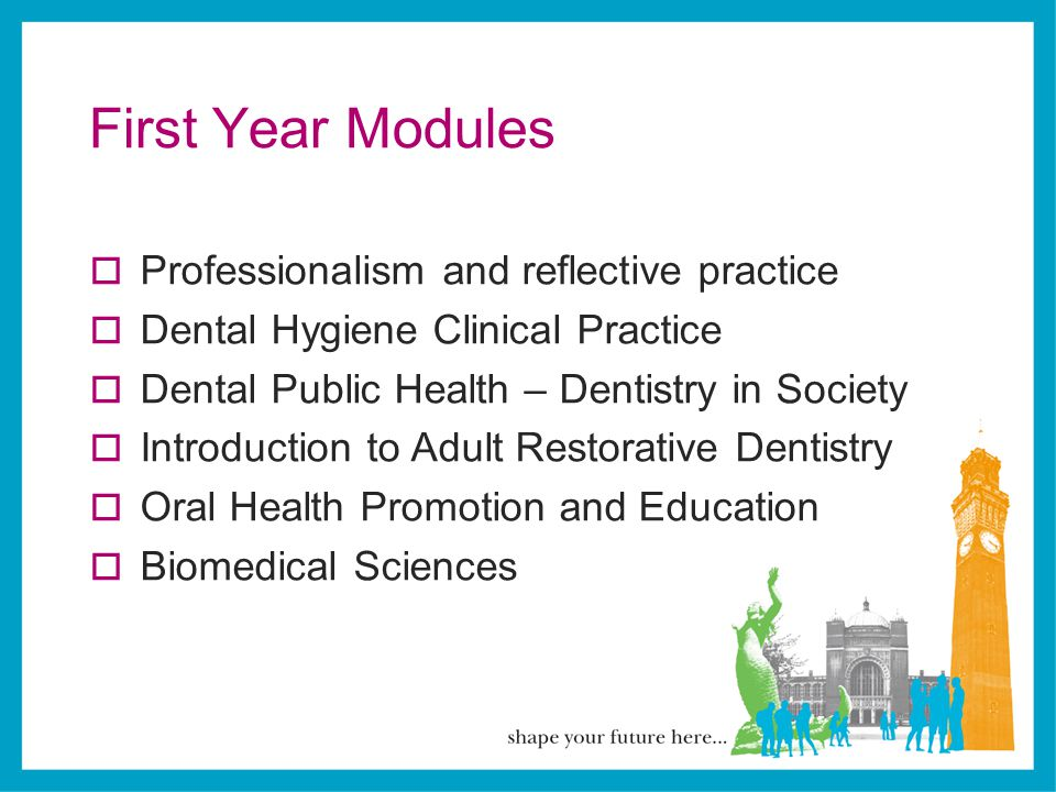 First Year Modules Professionalism and reflective practice