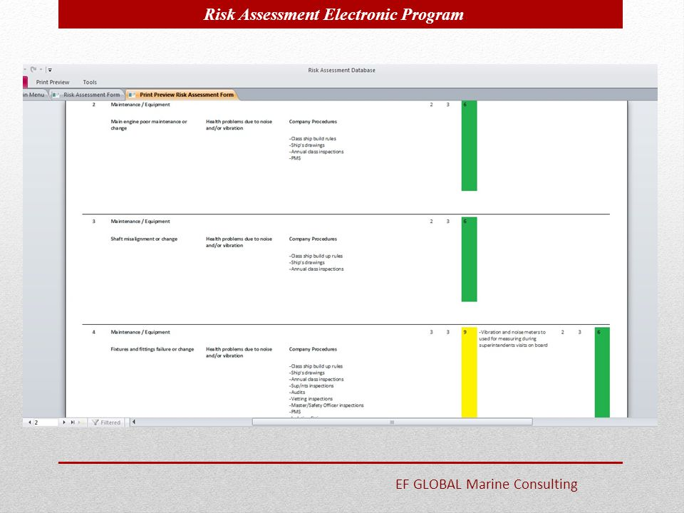 Risk Assessment Electronic Program