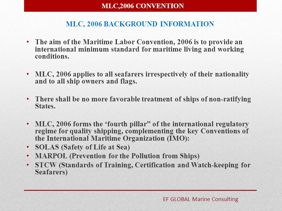 MLC, 2006 BACKGROUND INFORMATION