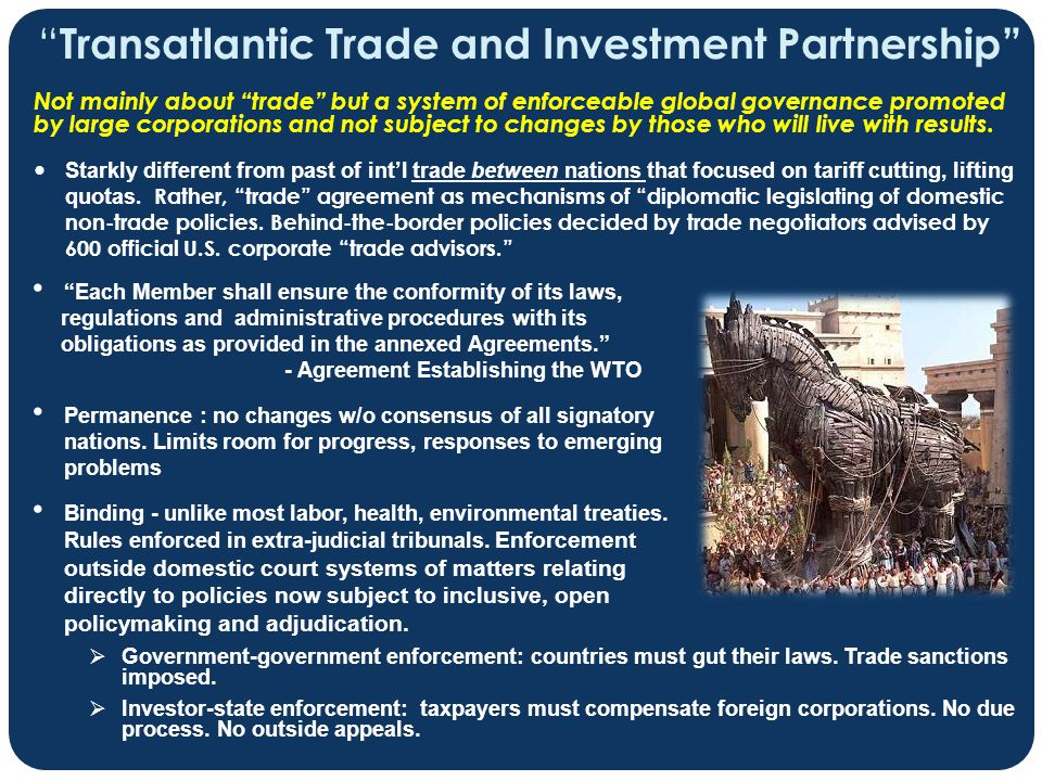Transatlantic Trade and Investment Partnership