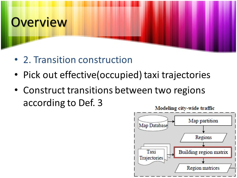 Overview 2. Transition construction