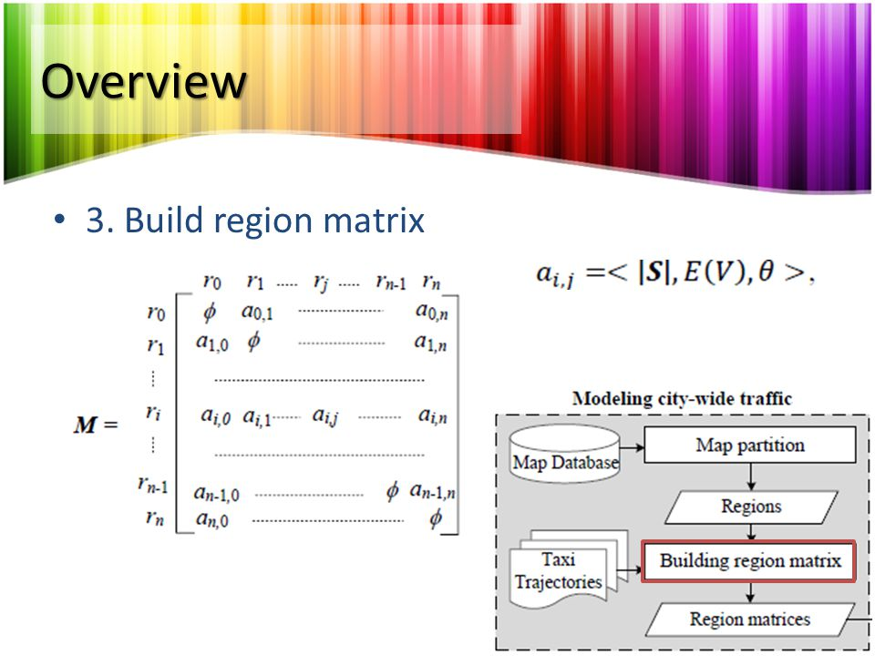 Overview 3. Build region matrix