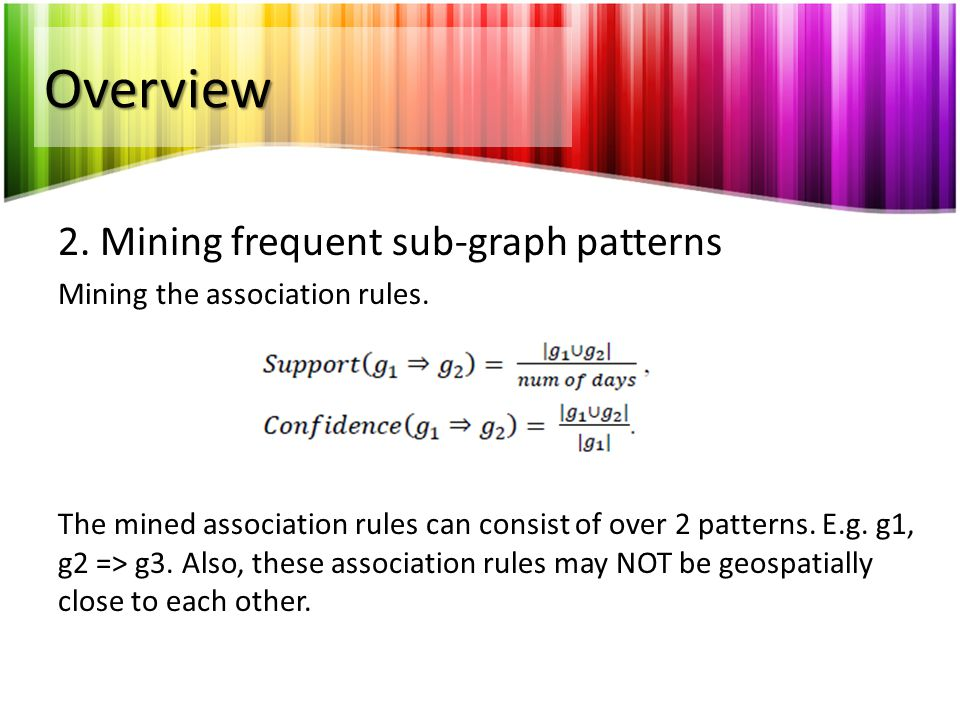 Overview 2. Mining frequent sub-graph patterns