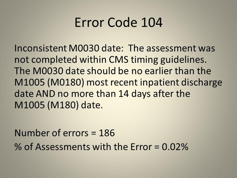 Error Code 104