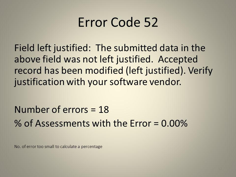 Error Code 52