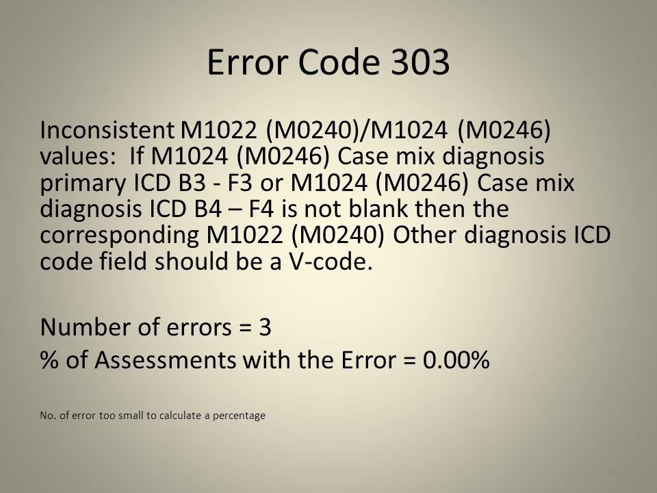 Error Code 303