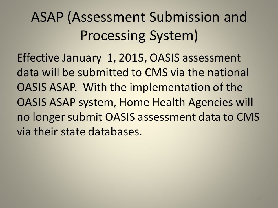 ASAP (Assessment Submission and Processing System)