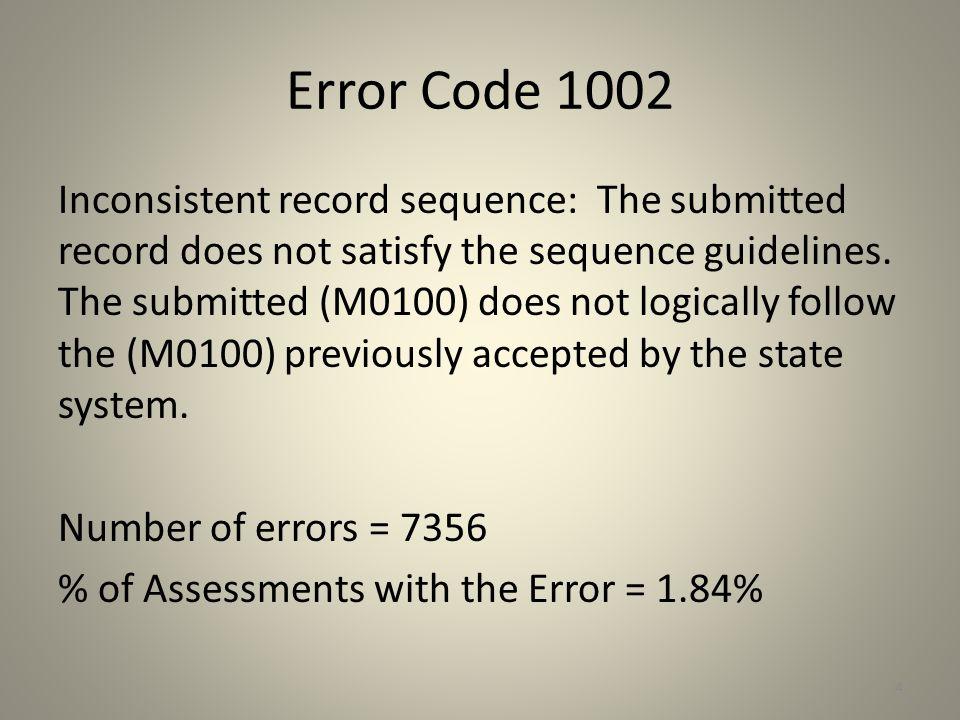 Error Code 1002