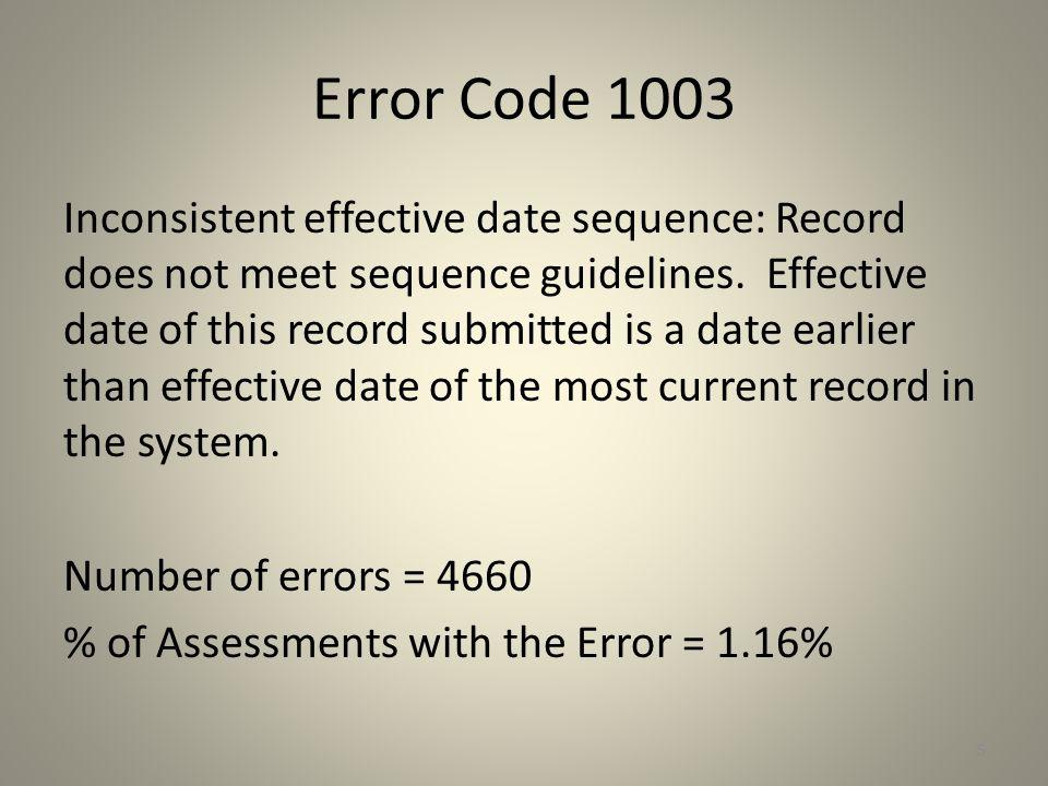 Error Code 1003