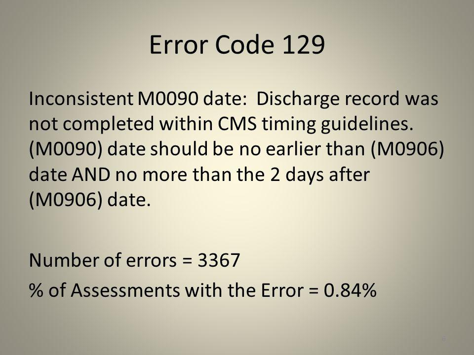 Error Code 129