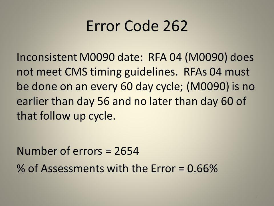 Error Code 262
