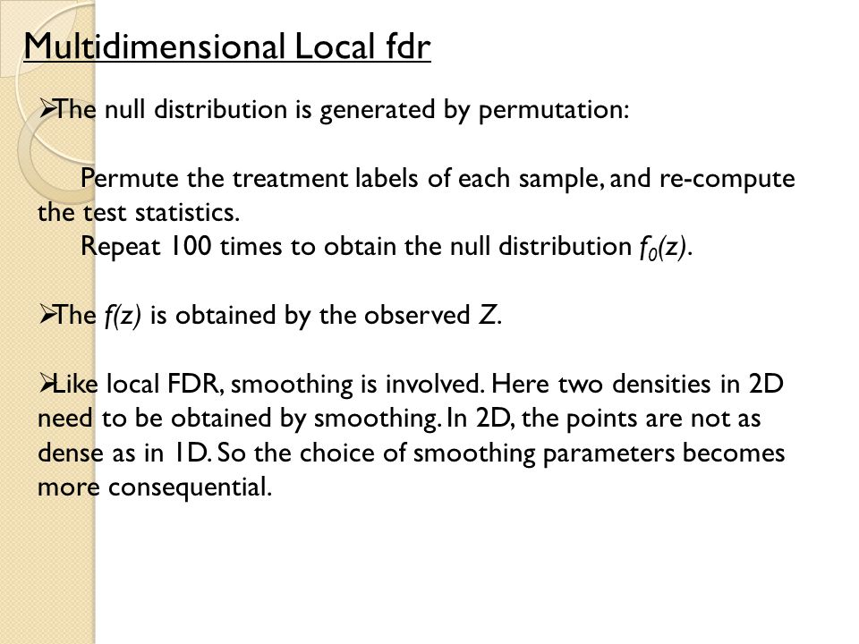 Multidimensional Local fdr