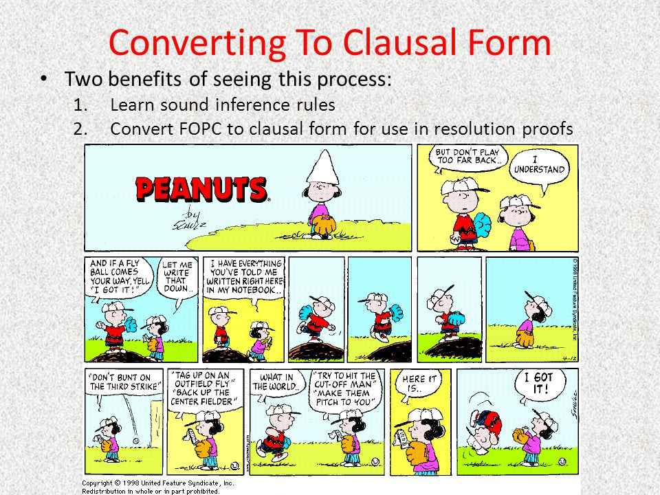 Converting To Clausal Form