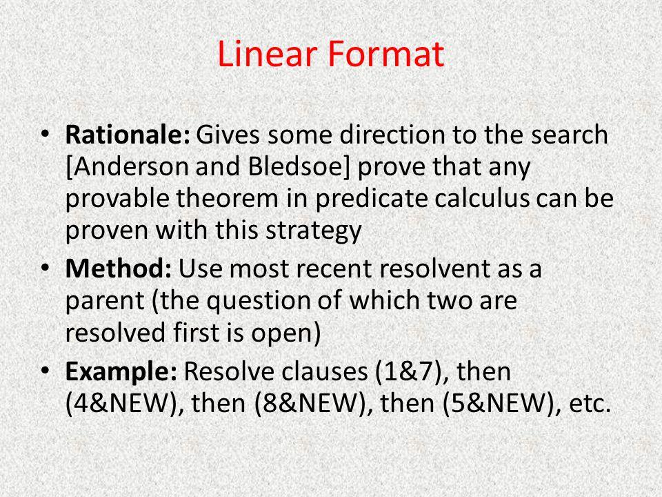 Linear Format