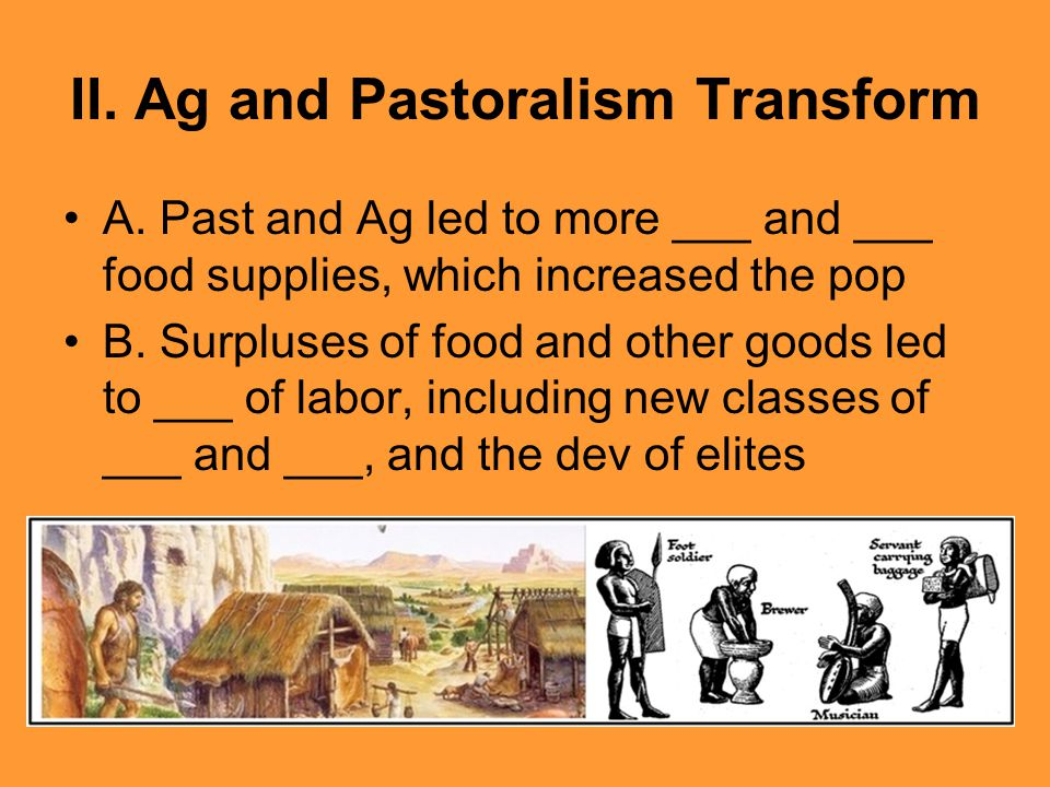 II. Ag and Pastoralism Transform