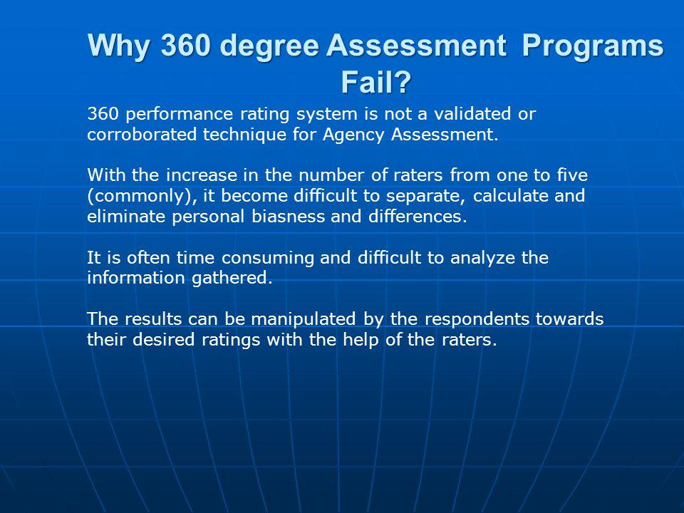 Why 360 degree Assessment Programs Fail