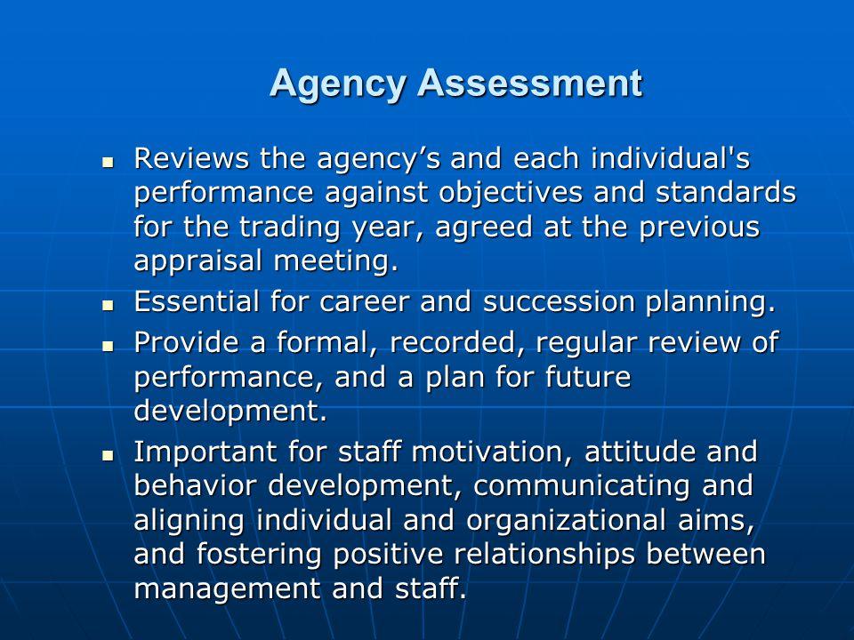 Agency Assessment