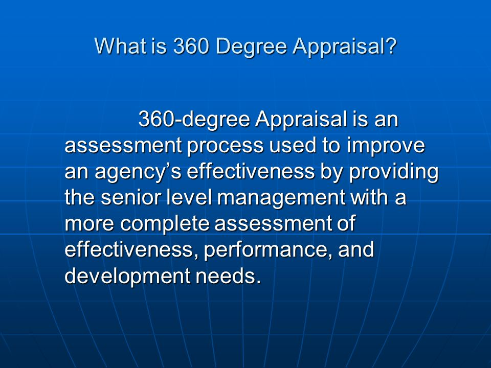 What is 360 Degree Appraisal