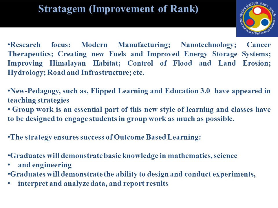 Stratagem (Improvement of Rank)