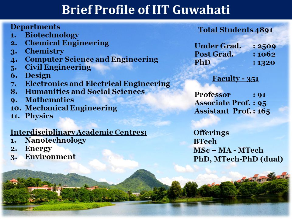 Brief Profile of IIT Guwahati