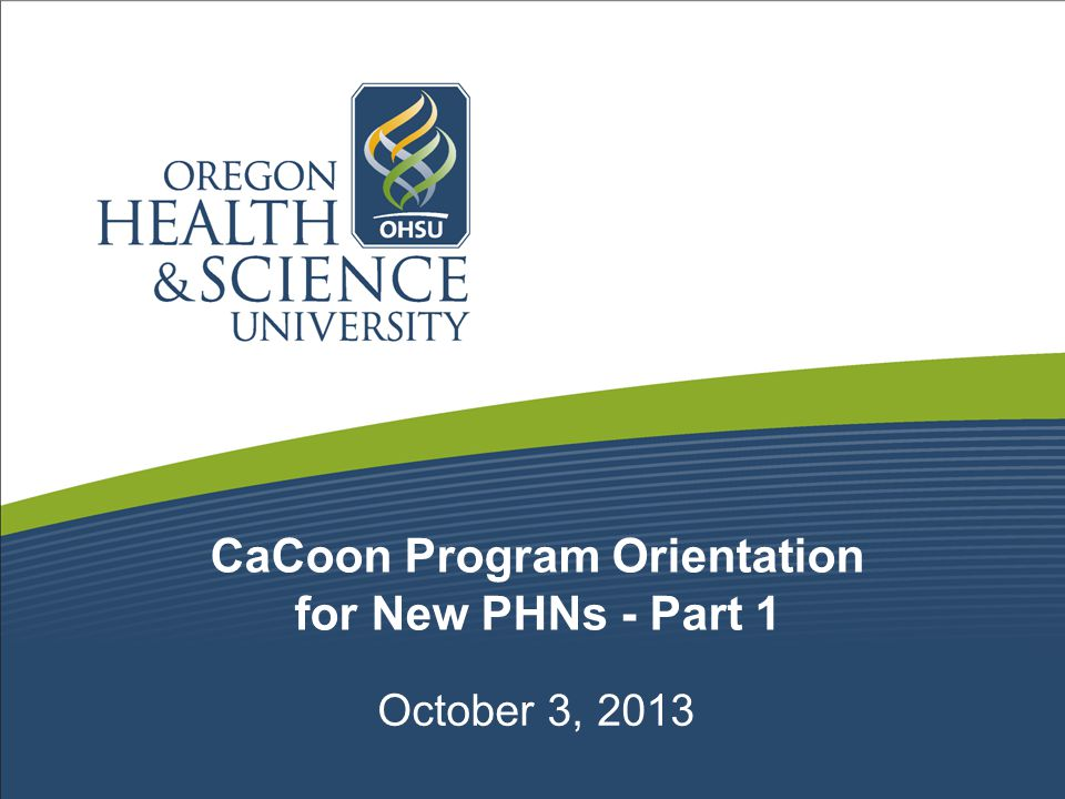 CaCoon Program Orientation for New PHNs - Part 1