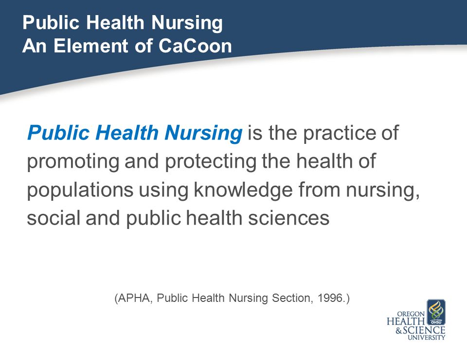 Public Health Nursing An Element of CaCoon