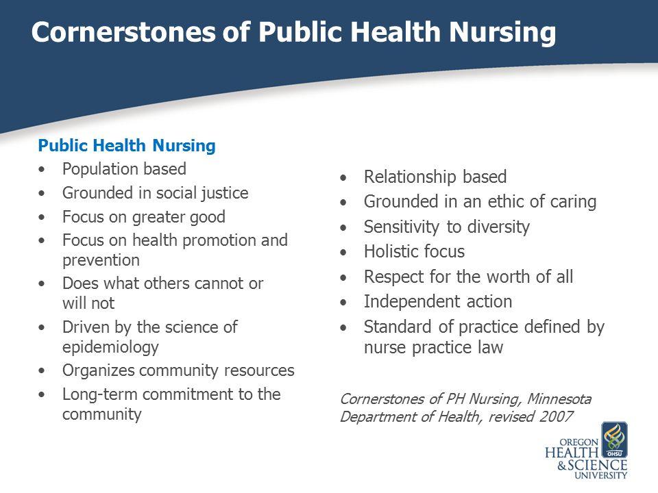 Cornerstones of Public Health Nursing