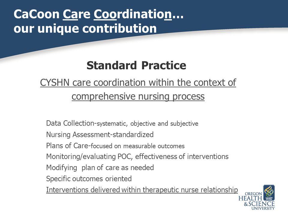 CaCoon Care Coordination… our unique contribution