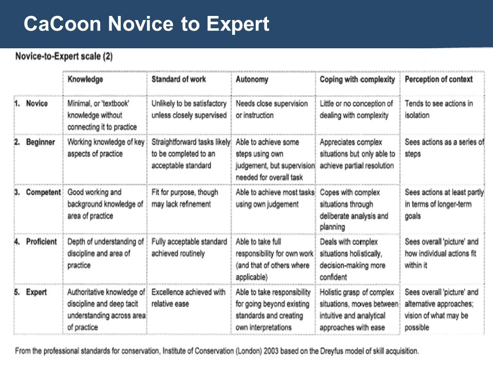 CaCoon Novice to Expert
