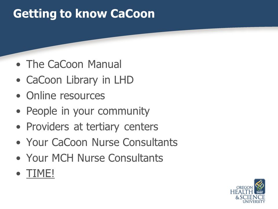 Getting to know CaCoon The CaCoon Manual CaCoon Library in LHD