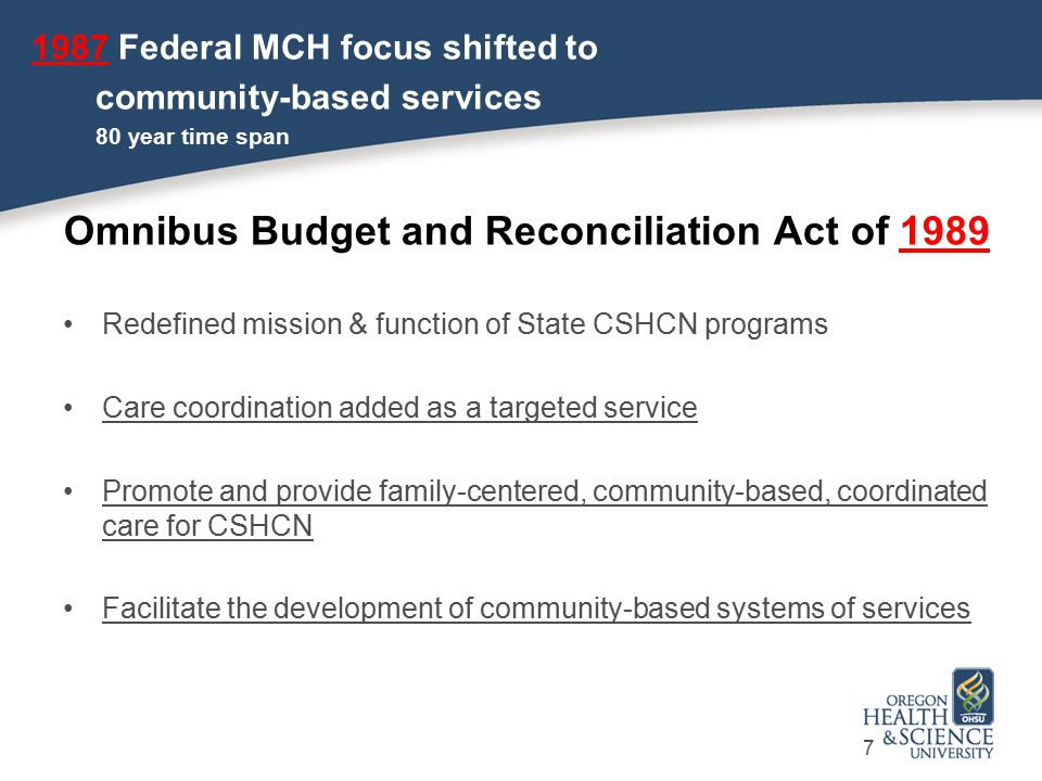 Omnibus Budget and Reconciliation Act of 1989
