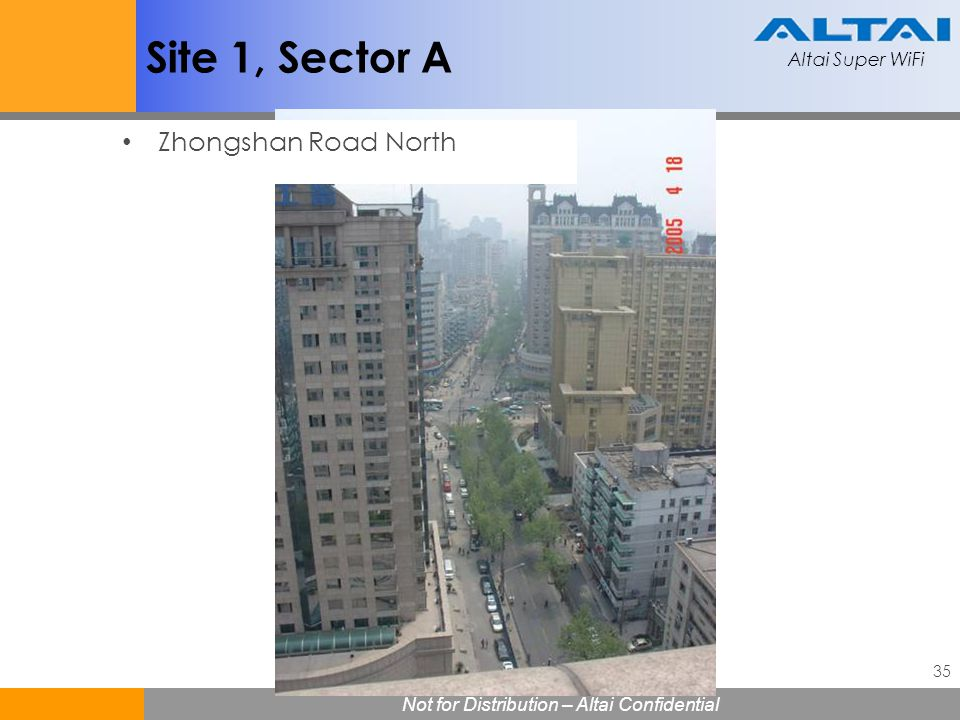 Site 1, Sector A Zhongshan Road North