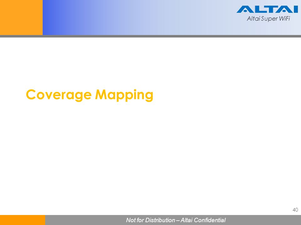 Coverage Mapping