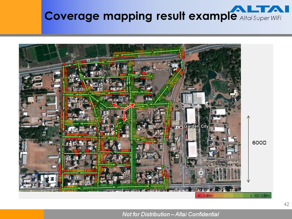 Coverage mapping result example