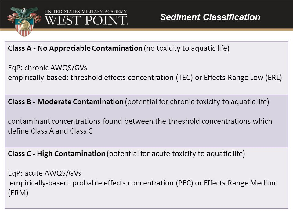Sediment Classification