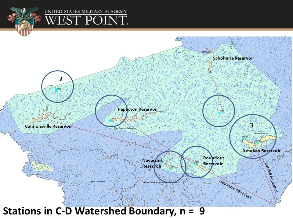 Stations in C-D Watershed Boundary, n = 9