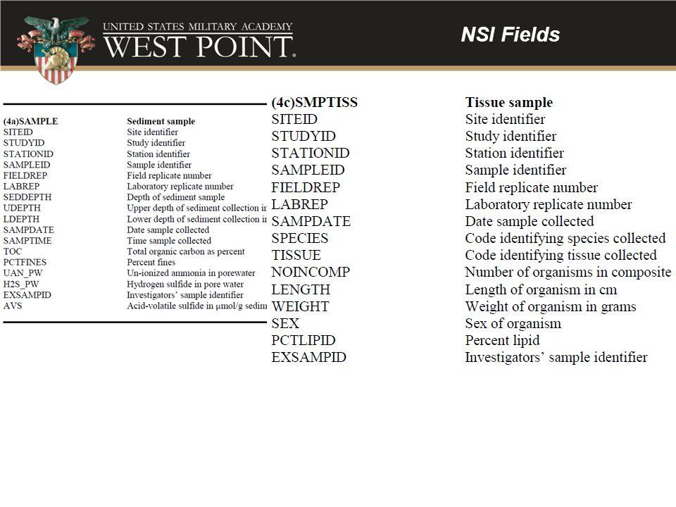NSI Fields