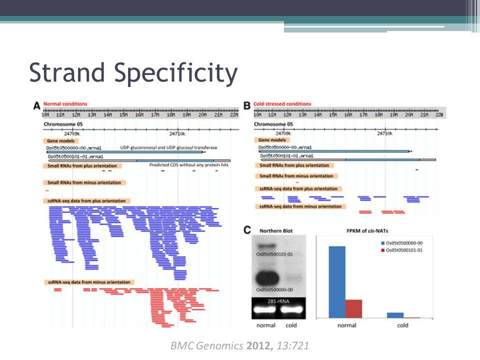 Strand Specificity BMC Genomics 2012, 13:721 BMC Genomics 2012, 13:721