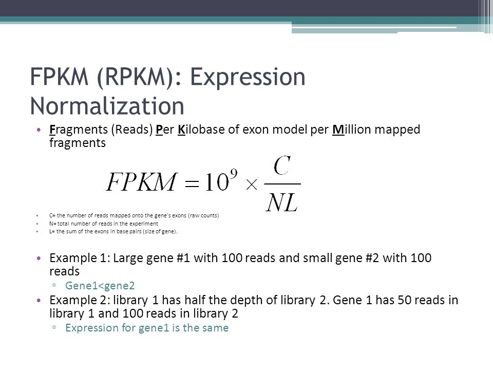 FPKM (RPKM): Expression Normalization