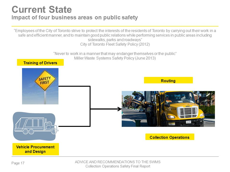 Current State Impact of four business areas on public safety