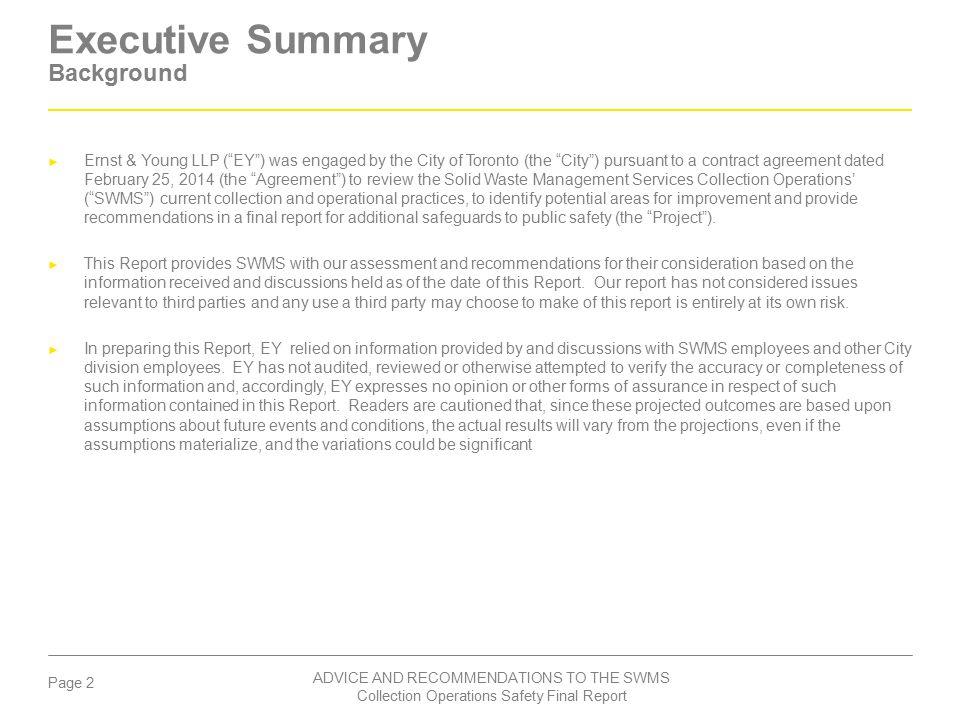 Executive Summary Background