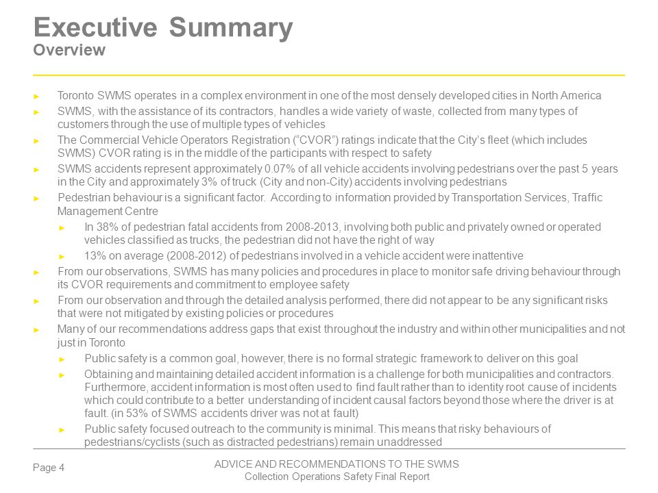 Executive Summary Overview