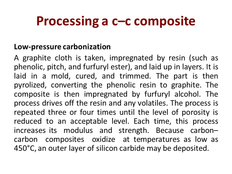 Processing a c–c composite