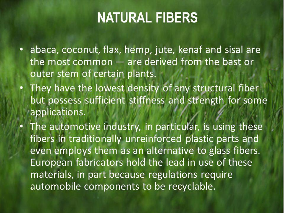 Natural fibers NATURAL FIBERS