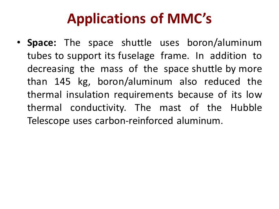 Applications of MMC's