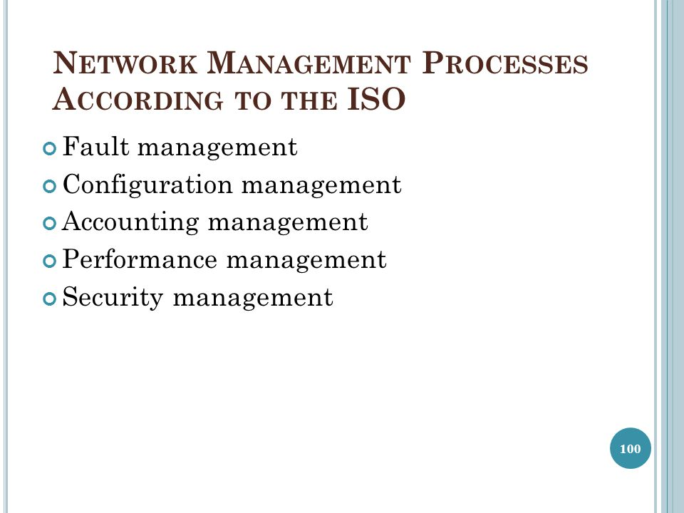 Network Management Processes According to the ISO