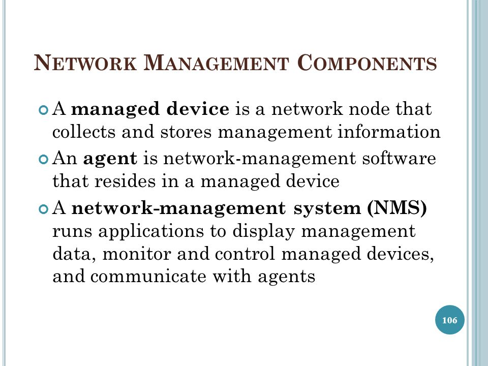 Network Management Components